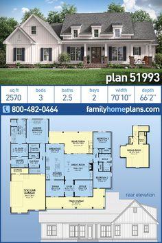 Family House Plans, New House Plans, Dream House Plans, Acadian House Plans, Acadian Style Homes, French Country House Plans, Country Houses, Farmhouse Plans, Modern Farmhouse Floor Plans