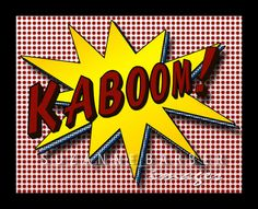 Pop Art Print  Kaboom in the comic strip style by TheBarberShoppe, $17.00