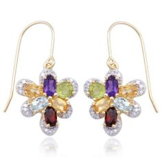 18k Yellow Gold Plated Sterling Silver Multi-Gemstone and Diamond Accent Butterfly Earrings Amazon Curated Collection. $40.00. Gemstones may have been treated to improve their appearance or durability and may require special care.. Made in China. The natural properties and composition of mined gemstones define the unique beauty of each piece. The image may show slight differences to the actual stone in color and texture.. Save 73%!