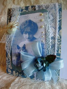 Victorian Lady's Card  Heirloom Quality  by AshbrookeSalutations
