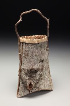 """Mountain Berry Basket"" with Copper Leaf by Matt Tommey"