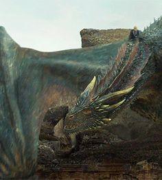 Game of Thrones: Daenerys Targaryen und Drogon - - Drogon Game Of Thrones, Arte Game Of Thrones, Game Of Thrones Dragons, Got Dragons, Fantasy Creatures, Mythical Creatures, Daenerys Targaryen, Khaleesi, The Mother Of Dragons