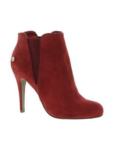 Blink High Heeled Chelsea Look Faux Suede Boot