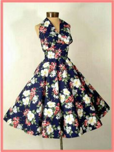 70a67cec42 vintage reproduction Hawaiian dresses justed listed at Blue Velvet Vintage  Clothing and Retro Fashion. Retro tropical print halter dresses are a  fabulous ...