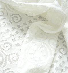 Applique - hand stitched curtains