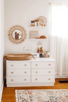 Baby Girl Nursery Room İdeas 618400592569684568 - Our Favourite Room Reveals of 2019 – Hunter & Nomad Source by Baby Nursery Decor, Baby Decor, Baby Bedroom, Project Nursery, Ikea Baby Nursery, Nursery Dresser, Vintage Nursery, Baby Gurl Nursery, Nursery Room Ideas