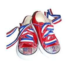 Swarovski Baby Bling 4th of July American Flag Rhinestone Converse shoe  found on Polyvore Rhinestone Converse 485f9d175