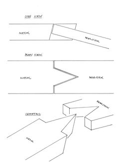 Although the geometry of the V joint is simple, it's surprisingly hard to to visualise if you've only seen the joint on a finished guitar. So, in an attempt to make the marking out easier to understand, I've sketched it below. As with all joints, the more precisely it's marked out the better the final…