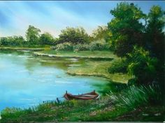 "Oil Painting with Svetlana Kanyo ""Lake view"" - YouTube"
