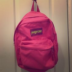 ✨BACK TO SCHOOL SALE✨Pink Jansport Backpack Pink Jansport backpack. Has some ink stains but otherwise perfect condition Jansport Accessories Bags