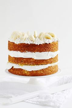 Banana Cake with Fresh Banana Curd ~ http://iambaker.net