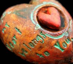 """""""My heart belongs to you."""" encased heart by Tejae for Jane Wynn"""