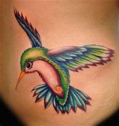 Colorful Hummingbird Tattoo | Tattooed | Pinterest