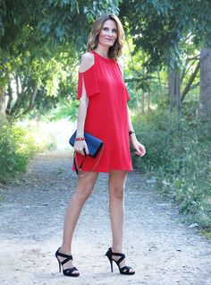 Red Dress #red #dress #offshoulders