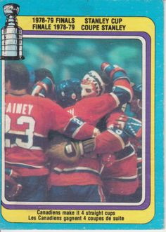 Montreal Canadiens, Stanley Cup, Hockey Cards, Baseball Cards, Ken Dryden, Nfl Fans, Sports Figures, National Hockey League, Hockey Players