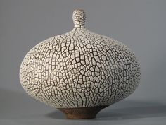 Modern ceramic vessel by Keiko Coghlin, Matilda Morgan Ceramics. Perfect for the mid century modern homes.     Etsy listing at https://www.etsy.com/listing/217062293/uniquely-hand-thrown-on-a-pottery-wheel