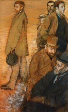 Edgar Degas, Six Friends at Dieppe (1885) on ArtStack #edgar-degas #art