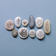 hand-painted pebbles