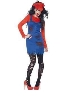 You can buy a Women's Zombie Plumber Female Costume from the Halloween Spot. This red Zombie plumber female costume includes a Dress, a Top and a Hat. Costume Halloween, Red Costume, Halloween Costume Accessories, Costume Shop, Christmas Costumes, Halloween Kostüm, Costume Zombie, Super Mario Bros, Costume Original