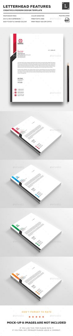 Corporate Letterhead Template-V06 by Template Shop on - corporate letterhead template