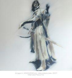 """""""Aragorn"""" 200X200 oil on canvas"""