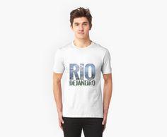 Rio de Janeiro White T-Shirt: Guanabara Bay from Corcovado Mountain (Brazil) by Nat & Mase - Namala Fashion / Go To Travel Guides