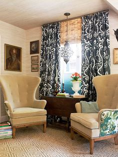 Make a bold pattern the focal point of your room! More pattern decor ideas: http://www.bhg.com/decorating/lessons/basics/use-pattern-to-change-your-rooms/?socsrc=bhgpin071114usepatterntochangeyourrooms