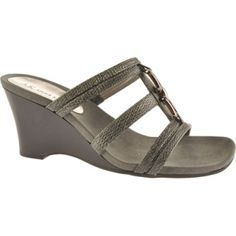 SALE - Anne Klein Cadets Wedge Heels Womens Black - Was $69.00 - SAVE $23.00. BUY Now - ONLY $45.95