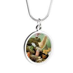 Sea Anemones, 1893 Silver Round Necklace