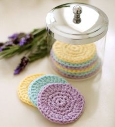 DIY ~ Reusable #Crochet Face #Scrubbies: free pattern