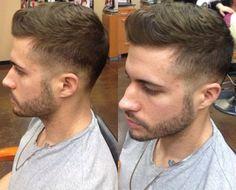 Back-to-front brushed style undercut.