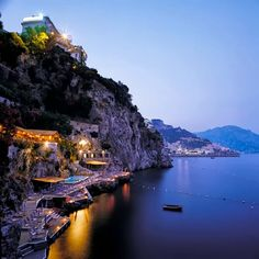 I Love Italy - Google+ - Santa Caterina at dusk - Amalfi Coast