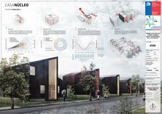 Gallery of First Place in sustainable social housing design contest in Patagonia / Aysén, Chile – 5 - Architecture Architecture Panel, Architecture Student, Architecture Portfolio, Architecture Details, Presentation Board Design, Architecture Presentation Board, Project Presentation, Modelos 3d, Social Housing