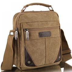 """HOT PRICES FROM ALI - Buy men's travel bags cool Canvas bag fashion men messenger bags high quality brand bolsa feminina shoulder bags from category """"Luggage & Bags"""" for only USD. Canvas Crossbody Bag, Canvas Messenger Bag, Messenger Bag Men, Bags Travel, Mens Travel Bag, Diy Bag Man, Mochila Nike, Fashion Bags, Men Fashion"""