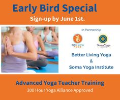 Join us for our ADVANCED 300HOUR YOGA TEACHER TRAINING and take your teaching to the next level!  Early bird pricing ends June 1st.