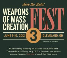 WMC Fest is a fest for those who live to create! A weekend community event taking place in the Gordon Square Arts District on Cleveland's west side. It was founded by Jeff Finley of the Cleveland-based creative agency Go Media.