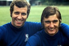 Peter Osgood & Alan Hudson - two absolute Chelsea greats British Football, Chelsea Football, Football Team, Chelsea Fc Wallpaper, Chris Mears, Chelsea Players, Good Soccer Players, Soccer Skills, Stamford Bridge