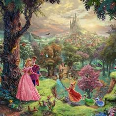 Thomas Kinkade - Disney Ill be honest.as an art history major I can't stand Thomas kinkade but these Disney paintings are my only exceptions! Cuz I love disney so much! Film Disney, Art Disney, Disney Kunst, Disney Love, Disney Pixar, Disney Characters, Disney Canvas, Disney Monsters, Disney Artwork