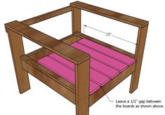 Faça você mesmo essa simples, mas elegante poltrona de madeira!            Clique na imagem para aumentar o tamanho        Você só precisa ...