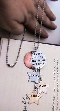 Hand Stamped Mom Necklace  Personalized by FiredUpLadiesHammer, $40.00