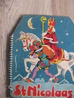 Antiek Sint  Nicolaas uitvouwboekje.