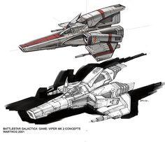 Battlestar ( video game concept art )