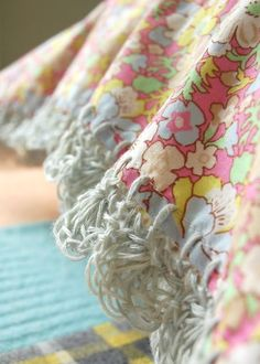 Crochet Pillowcase Trim with Linen Crochet Thread, The look of linen stitches is described really well in this blog post.  It also includes nice close up shots.  Liberty fabric is always lovely. ~ rose hip : Liberty and Linen...