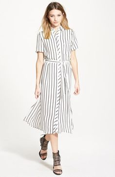 GLAMOROUS Belted Shirtdress available at #Nordstrom