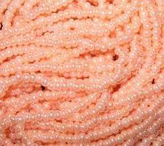 peach color Pearls!!  Abuela's favorite color!