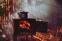 smoke / fire / cook