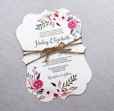 Floral Romance wedding invitation from Love of Creating Design Co.
