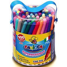 CARIOCA Lemosható filctoll - 100 darabos Markers, Diaper Bag, Color, Sharpies, Diaper Bags, Colour, Mothers Bag, Sharpie Markers, Colors