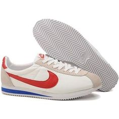 Men Nike Cortez Oxford Cloth Shoes White Red Blue Nike Cortez Leather f78d0bfd5