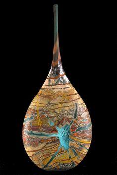 Jared Davis Desert Series Art Glass Vase